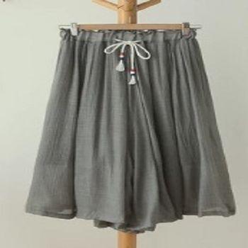 [協賀]九分褲寬鬆裙褲