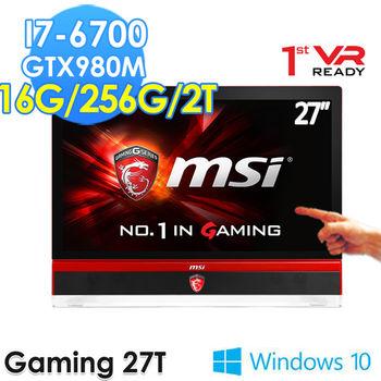 MSI 微星 Gaming 27T 6QE-007TW 27吋 i7-6700 獨顯GTX980M 觸控電競AIO 桌上型電腦
