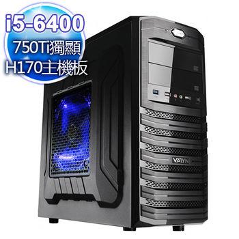 |華碩平台|說唱魔域 i5-6400四核 750Ti獨顯 大容量燒錄桌上型電腦
