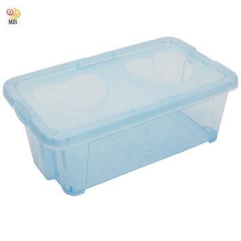 月陽多功能可堆疊透明鞋盒收納盒整理盒超值2入(PP5)