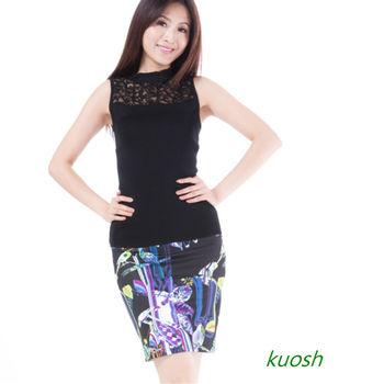 【KUOSH】繽紛圖騰包臀短裙(NS-6100)