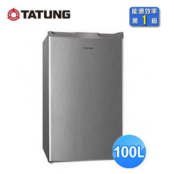 【TATUNG大同】100公升1級單門冰箱(TR-100HT-S)
