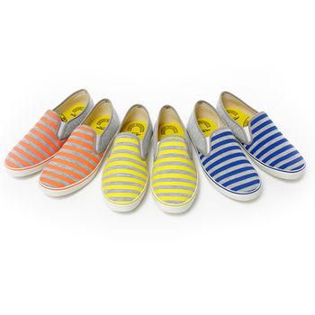 【美國 AIRWALK】自在款條紋休閒鞋-女-共三色