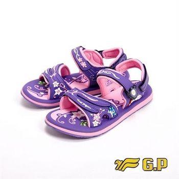 【G.P】花蝴蝶系列小涼鞋童鞋-紫(另有桃紅)