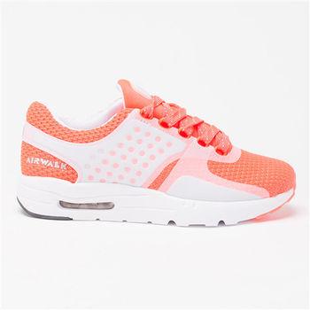 【美國 AIRWALK】清新配色氣墊運動鞋-女-淺橙
