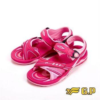 【G.P】快樂童鞋-舒適氣墊涼鞋童鞋-桃紅
