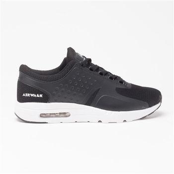 【美國 AIRWALK】清新配色氣墊運動鞋-男-黑