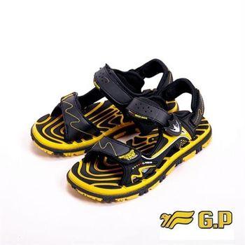 【G.P】色彩繽紛休閒童涼鞋童鞋-黃(另有黑紅)