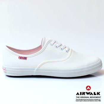 AIRWALK繽紛馬卡龍純棉帆布鞋-女-牛奶白
