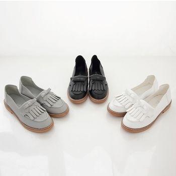 《DOOK》超柔軟流蘇蝴蝶結低跟莫卡辛鞋-3色