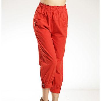 蘭陵水洗棉立裁美型褲(3件組)