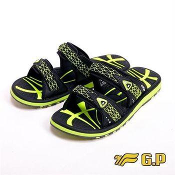【G.P】時尚休閒涼鞋男鞋-綠(另有黑)