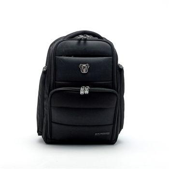 【Swissdigital】簡約商務時尚後背包-黑