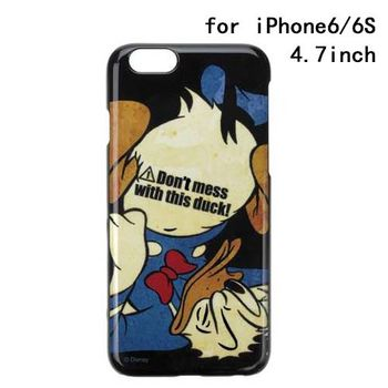 iJacket 迪士尼 iPhone 6/6s 4.7吋 塗鴉 復古硬式保護殼 - 唐老鴨摔跤