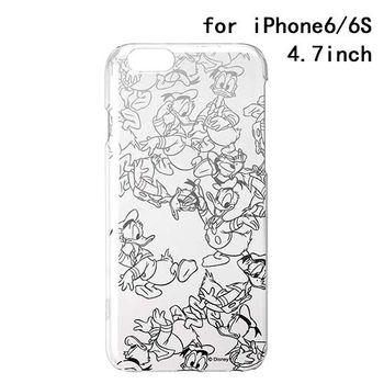 iJacket 迪士尼 iPhone 6/6s 4.7吋 銀箔系列 透明硬式保護殼 - 唐老鴨跑跑