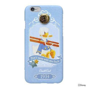 iJacket 迪士尼 iPhone 6/6s 4.7吋 手機殼+化妝鏡 復古系列 豪華套裝組 - 唐老鴨
