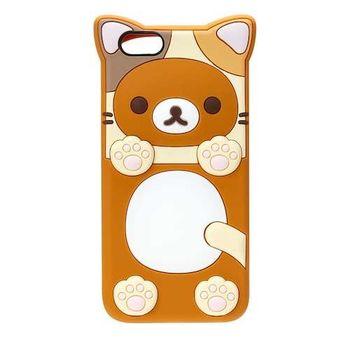 iJacket San-x iPhone 6/6s 4.7吋 貓系列 立體造型矽膠 軟式保護殼 - 拉拉熊