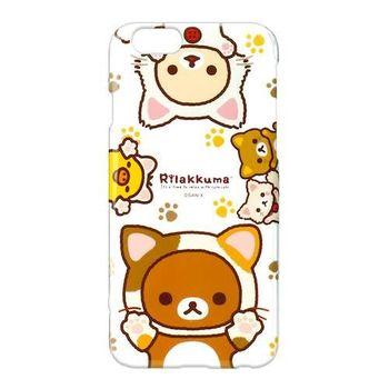 iJacket San-x iPhone 6/6s 4.7吋 拉拉熊系列 透明硬式保護殼 - 透明可愛貓貓