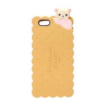 iJacket San-x iPhone 6/6s 4.7吋 夾心餅乾系列 立體造型矽膠 軟式保護殼 - 餅乾小白熊