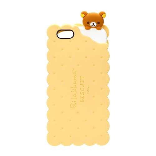 iJacket San-x iPhone 6/6s 4.7吋 夾心餅乾系列 立體造型矽膠 軟式保護殼 - 餅乾拉拉熊