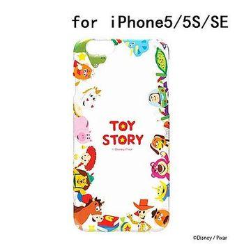 iJacket 迪士尼 iPhone SE/5/5s 彩繪 透明硬式保護殼 - 玩具總動員