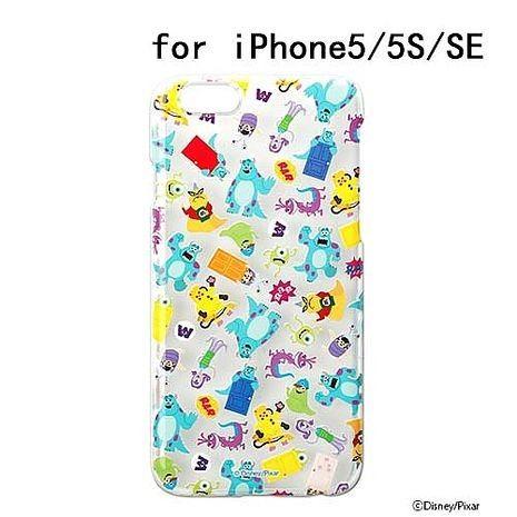 iJacket 迪士尼 iPhone SE/5/5s 彩繪 透明硬式保護殼 - 怪獸大學亂花