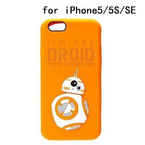iJacket 迪士尼 iPhone SE/5/5s Q版系列 立體軟式保護殼 - BB8