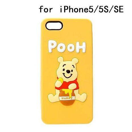 iJacket 迪士尼 iPhone SE/5/5s Q版系列 立體軟式保護殼 - 小熊維尼