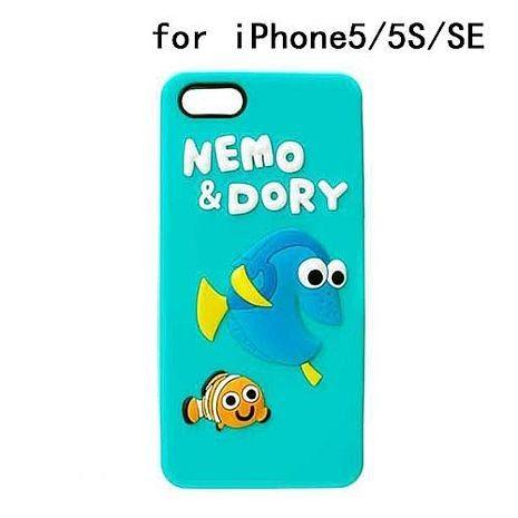 iJacket 迪士尼 iPhone SE/5/5s Q版系列 立體軟式保護殼 - 海底總動員
