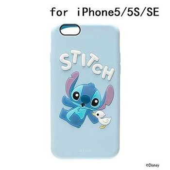 iJacket 迪士尼 iPhone SE/5/5s Q版系列 立體軟式保護殼 - 史迪奇