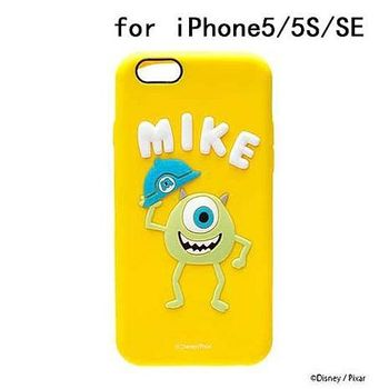 iJacket 迪士尼 iPhone SE/5/5s Q版系列 立體軟式保護殼 - 大眼仔