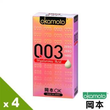 【岡本OK】003 HA極薄水潤保險套(6入X 4盒)