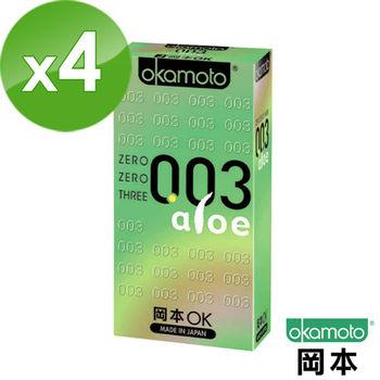【岡本OK】003 Aloe極薄蘆薈保險套(6入X 4盒)