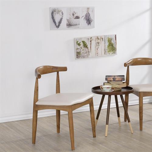 【傢俱屋】-北歐復刻牛角椅2入/餐椅/學生椅/休閒椅