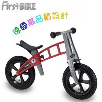 【FirstBike】德國設計 寓教於樂-兒童滑步車/學步車(越野紅)