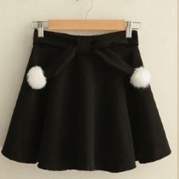 [協賀]毛球裝飾蓬蓬裙