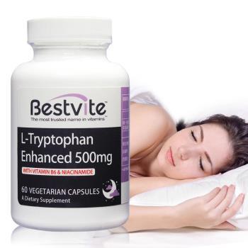 【美國BestVite】必賜力色胺酸加強膠囊1瓶 (60顆)