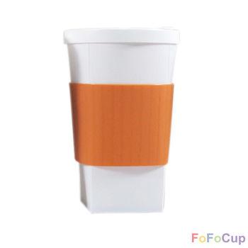 【FOFOCUP】台灣製造創意可摺疊16oz折折杯(橘色)  創意設計-行動