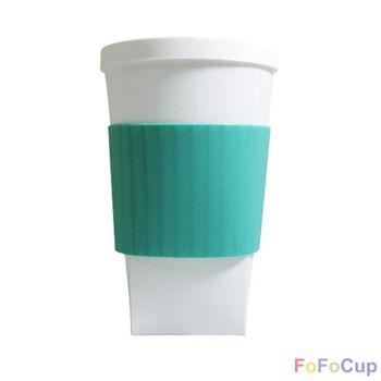 【FOFOCUP】台灣製造創意可摺疊16oz折折杯(綠色)  創意設計-行動