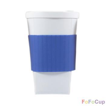 【FOFOCUP】台灣製造創意可摺疊16oz折折杯(藍色)  創意設計-行動