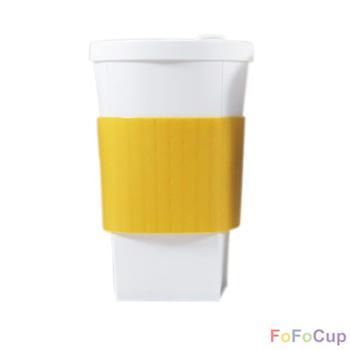 【FOFOCUP】台灣製造創意可摺疊16oz折折杯(黃色)  創意設計-行動