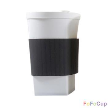 【FOFOCUP】台灣製造創意可摺疊16oz折折杯(黑色)  創意設計-行動