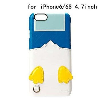 iJacket 迪士尼 iPhone 6/6s 4.7吋 皮革 可儲卡硬式保護殼 - 唐老鴨屁屁