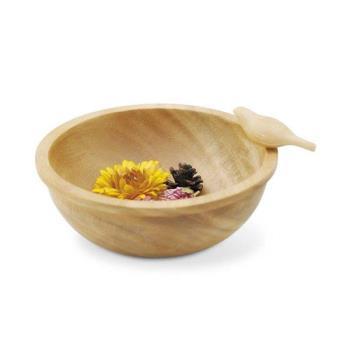 日本 Kishima 鄉村風小鳥木碗 - 共兩色