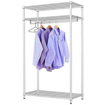 【莫菲思】百變金鋼-三層衣櫥架90x45x165cm