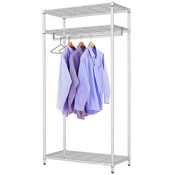 【莫菲思】百變金鋼-三層衣櫥架90x45x180cm