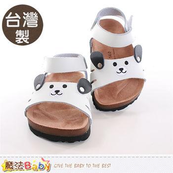 魔法Baby 兒童涼鞋 台灣製真皮材質涼鞋~sh9807