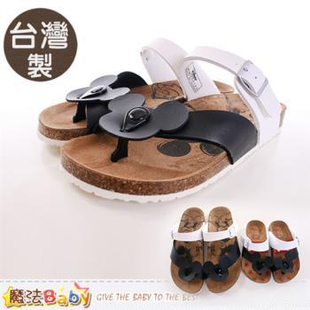 魔法Baby 成人女款涼鞋 台灣製米奇授權正版親子鞋大人款~sh9619