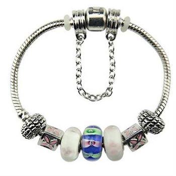 【米蘭精品】潘朵拉元素手鍊925純銀琉璃飾品歐美系列時尚經典73ay221