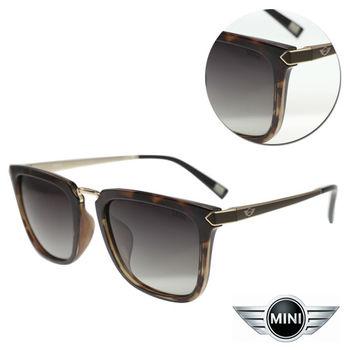 【MINI】偏光方形漸層灰黑玳瑁框太陽眼鏡(A M38013-029P)